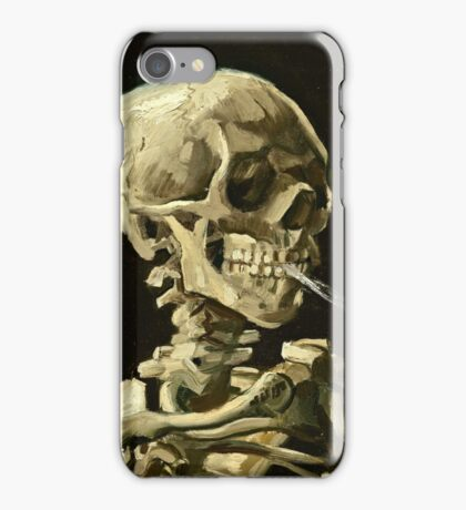Vincent Van Gogh - Head Of A Skeleton With A Burning Cigarette, January 1886 - February 1886  iPhone Case/Skin
