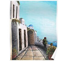 Greek Seascape Poster