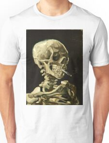Vincent Van Gogh - Head Of A Skeleton With A Burning Cigarette, January 1886 - February 1886  Unisex T-Shirt