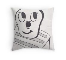 Crazy toaster Throw Pillow