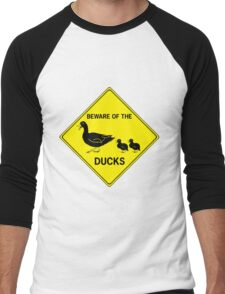 Beware of the Ducks Men's Baseball ¾ T-Shirt
