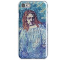 Vincent Van Gogh - Half-Figure Of An Angel (After Rembrandt), 1889 iPhone Case/Skin