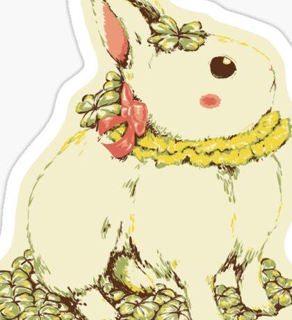 Clover Ribbon Rabbit Sticker