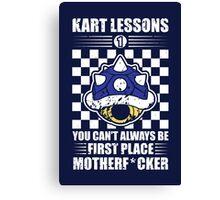 Kart Lessons #01 Canvas Print