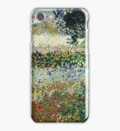 Vincent Van Gogh - Garden In Bloom 1888 iPhone Case/Skin