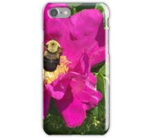 Bumble Bee & Wild Rose iPhone Case/Skin