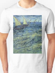 Vincent Van Gogh - Fishing Boats At Sea, 1888 Unisex T-Shirt