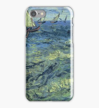 Vincent Van Gogh - Fishing Boats At Sea, 1888 iPhone Case/Skin