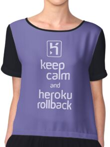 Keep Calm and Heroku Rollback Chiffon Top