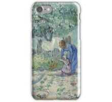 Vincent Van Gogh - First Steps, After Millet 1890 iPhone Case/Skin