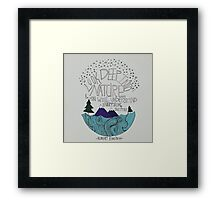 Einstein: Nature Framed Print