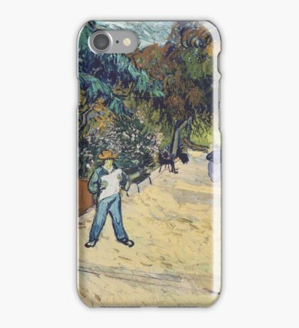 Vincent Van Gogh - Entrance To  Public Garden In Arles, 1888 iPhone Case/Skin