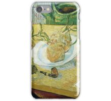 Vincent Van Gogh - Drawing Board, Pipe, Onions And Sealing Wax, 1889 iPhone Case/Skin
