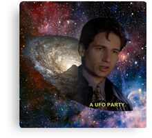 Spaced Out Mulder Canvas Print