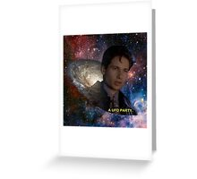 Spaced Out Mulder Greeting Card