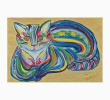 Hypno Rainbow Cat One Piece - Short Sleeve