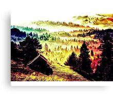 Mount Helicon Canvas Print