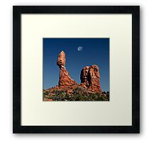 Moonrise Over Balanced Rock .2 Framed Print