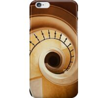 Spiral stairs in brown tones iPhone Case/Skin