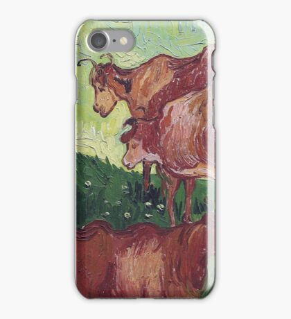 Vincent Van Gogh - Cows (After Jorsaens), 1890 iPhone Case/Skin