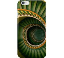 Spiral stairs in green iPhone Case/Skin