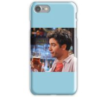ted mosby enjoying a nice cold beer  iPhone Case/Skin