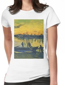 Vincent Van Gogh - Coal Barges, 1888 Womens Fitted T-Shirt