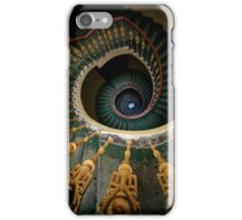 Spiral stairs with ornamented handrail iPhone Case/Skin