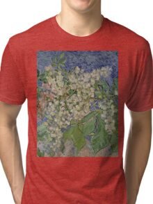 Vincent Van Gogh - Blossoming Chestnut Branches 1890 Tri-blend T-Shirt