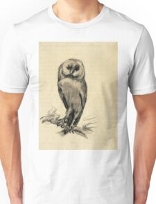 Vincent Van Gogh - Barn Owl Viewed From  Front, 1887 Unisex T-Shirt