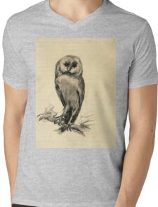 Vincent Van Gogh - Barn Owl Viewed From  Front, 1887 Mens V-Neck T-Shirt