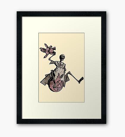 Elsie Got A New Space Hopper! Framed Print