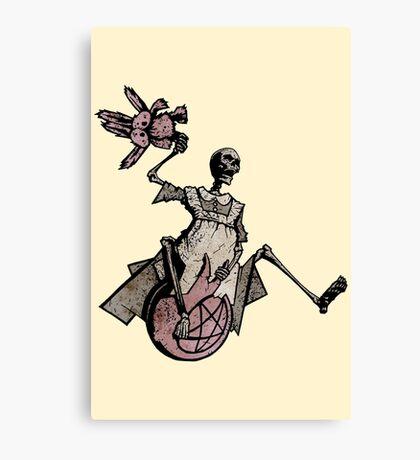 Elsie Got A New Space Hopper! Canvas Print