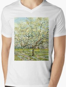 Vincent Van Gogh -  White Orchard, April 1888 - 1888  Mens V-Neck T-Shirt