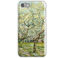 Vincent Van Gogh -  White Orchard, April 1888 - 1888  iPhone Case/Skin