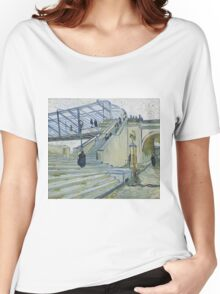 Vincent Van Gogh -  Trinquetaille Bridge, 1888 Women's Relaxed Fit T-Shirt