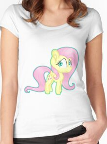 Fluttershy Chibi Women's Fitted Scoop T-Shirt