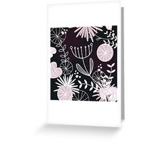 Retro background with vintage flowers Greeting Card