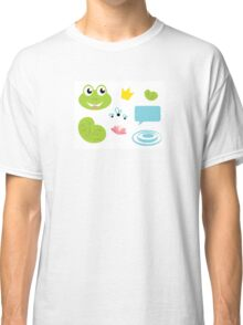 Fairy Frog cartoon icons and elements Classic T-Shirt