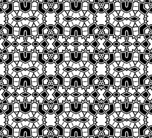 Black and White Abstract Design Pattern by Mercury McCutcheon