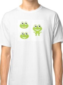 Green frog icon collection : froggy green collection Classic T-Shirt
