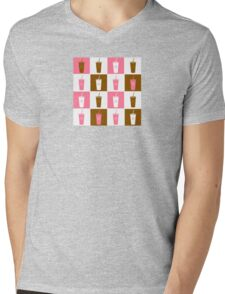 Coffee cup abstract stylized background Mens V-Neck T-Shirt