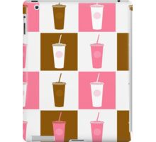 Coffee cup abstract stylized background iPad Case/Skin