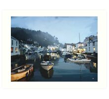Polperro, Cornwall, Original Illustration. Art Print