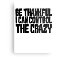 Be thankful I can control the crazy Metal Print