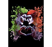 green red king queen crazy love Photographic Print