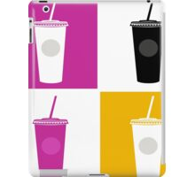Plastic cups in pop art style iPad Case/Skin