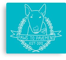 Paws To Pavement Dog Walking San Diego Bull Terrier White & Turquoise Canvas Print