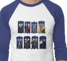 Doctor Who - Doctors & Tardises Men's Baseball ¾ T-Shirt