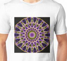 Purple and Yellow Glow Kaleidoscope Unisex T-Shirt